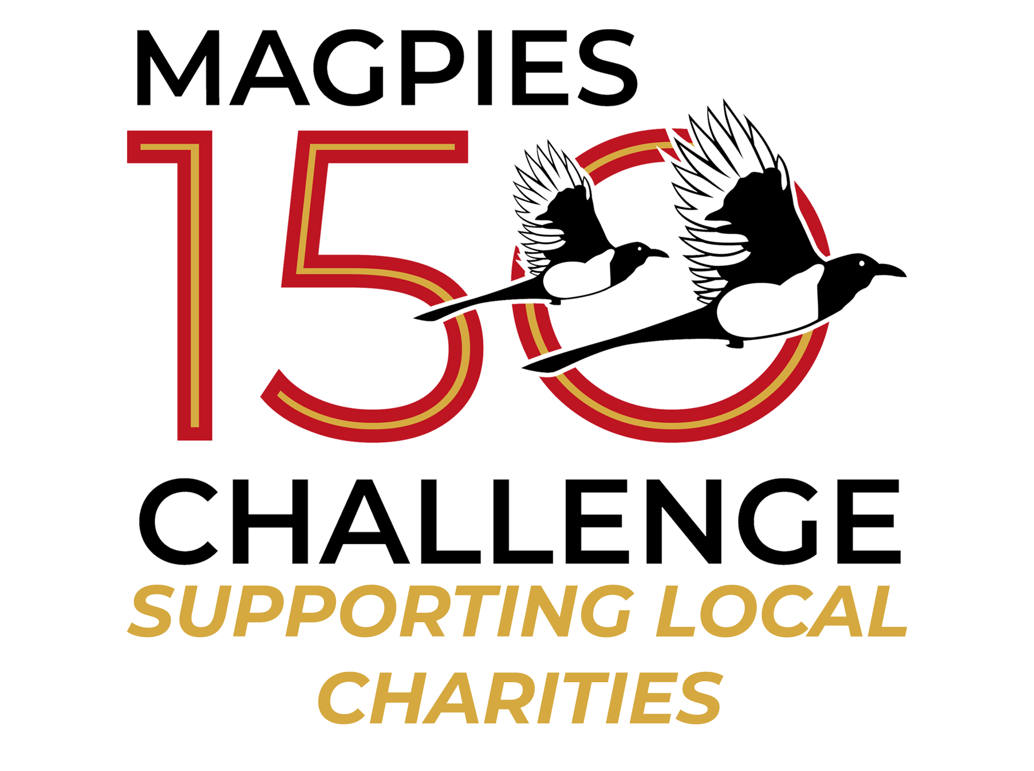 Magpies 150 Challenge Logo – Gold